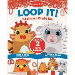 MELISSA & DOUG Loop It Kreatywny Zestaw - Pacynki KURA I OWCA 40194