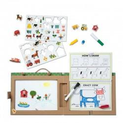 Melissa & Doug TABLICA MAGNETYCZNA Play-Draw Create FARMA 41325