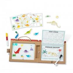 Melissa & Doug TABLICA MAGNETYCZNA Play-Draw Create DINOZAURY 41321