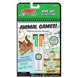 MELISSA & DOUG On The Go - ANIMAL Games! Zmazywalne Gry Zwierzęta 40171