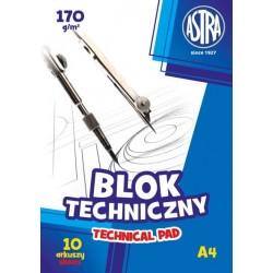 ASTRA Blok Techniczny A4 10 Arkuszy 2594