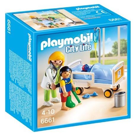PLAYMOBIL 6661 CITY LIFE Szpital - Lekarka przy Łóżku Chorego Dziecka