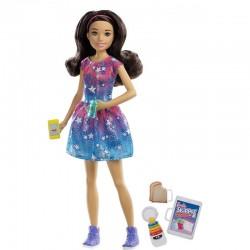 MATTEL Lalka Barbie Skipper Opiekunka w Sukience w Gwiazdki FXG93