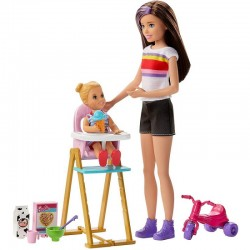 MATTEL Lalka Barbie Opiekunka Skipper CZAS KARMIENIA GHV87