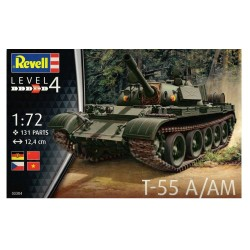 Revell Model do Sklejania CZOŁG T-55 A/AM Skala 1:72 03304