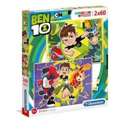 CLEMENTONI Puzzle 2x60 el. SuperColor BEN 10 07136