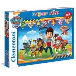 CLEMENTONI Puzzle 104 Elementy SuperColor PSI PATROL 27945