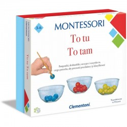 CLEMENTONI Montessori TO TU, TO TAM Zestaw Edukacyjny 50120