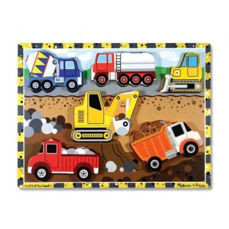 Melissa & Doug - 13726 - Układanka - Puzzle Drewniane - Pojazdy