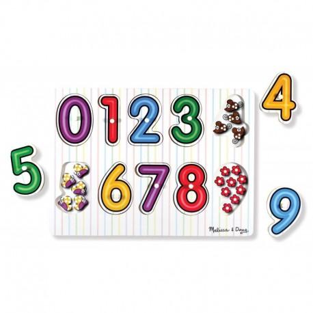 Melissa & Doug - 13273 - Układanka - Puzzle Drewniane - Cyferki