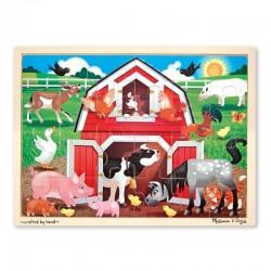 Melissa & Doug - 19061 - Układanka - Puzzle Drewniane - Gospodarstwo ze Zwierzętami