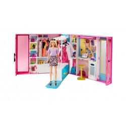 Mattel Barbie Fashionistas WYMARZONA SZAFA + LALKA I AKCESORIA GBK10