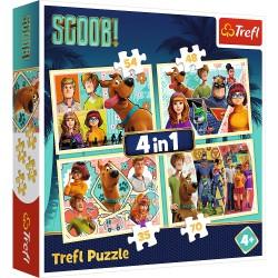 TREFL Puzzle Układanka 4w1 SCOOBY DOO I PRZYJACIELE 34340