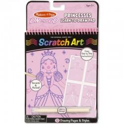 Melissa & Doug - 19144 - Scratch Art - On The Go - Zdrapki - Nauka Rysowania - Księżniczki