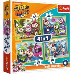 TREFL Puzzle Układanka 4w1 TOP WING Ptasia Akademia 34342