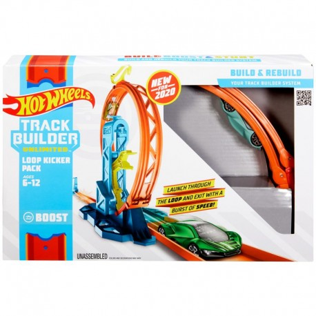 MATTEL Hot Wheels Track Builder ZESTAW PĘTLA Z PRZYSPIESZENIEM GLC90
