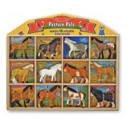 Melissa & Doug - 10592 - Zestaw Zwierząt - Przyjaciele na Pastwisku - Konie