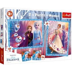 TREFL Puzzle Układanka 2w1 Memo FROZEN 2 KRAINA LODU 2 90814