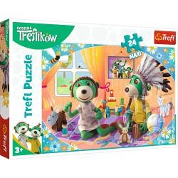 TREFL Puzzle Maxi Układanka 24 el. RODZINA TREFLIKÓW Bawmy się Razem! 14319