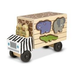 Melissa & Doug - 15180 - Sorter Kształtów - Pojazdy - Karetka Safari - Pogotowie Zwierzęce