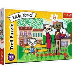 TREFL Układanka Puzzle MAXI 24 Elementy KICI KOCIA Zabawy Kici Koci 14316