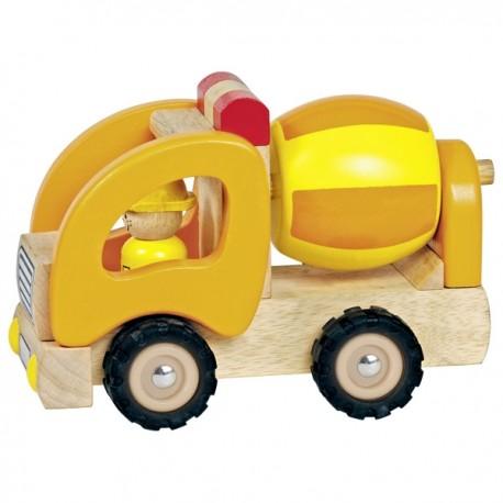 Goki - 55926 - Pojazd Drewniany - Pojazd Budowlany - Betoniarka