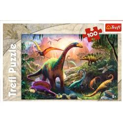 TREFL Puzzle 100 Elementów ŚWIAT DINOZAURÓW 16277