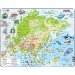 LARSEN PUZZLE Mapa Fizyczna Azji - Język Angielski 21930