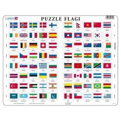 LARSEN PUZZLE Flagi Świata 07026