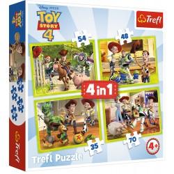 TREFL Puzzle Układanka 4w1 TOY STORY 4 Ekipa Zabawkowa 34312