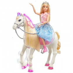 MATTEL Barbie Princess Adventure INTERAKTYWNY KONIK I LALKA GML79