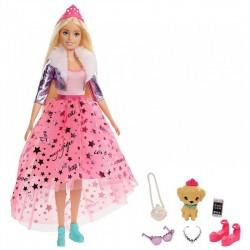 MATTEL Lalka Barbie Princess Adventure KSIĘŻNICZKA+Akcesoria GML76