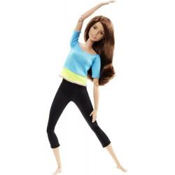 Mattel - DHL81 - DJY08 - Lalka - Barbie - Made To Move - Gimnastyczka - Brunetka