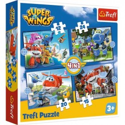 TREFL Puzzle Układanka 4w1 ODLOTOWA PACZKA SUPER WINGS 34351