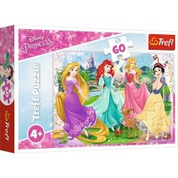 TREFL Puzzle Układanka 60 el. DISNEY PRINCESS Ulubione Księżniczki 17347