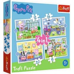 TREFL Puzzle Układanka 4w1 WSPOMNIENIA Z WAKACJI PEPPY 34359