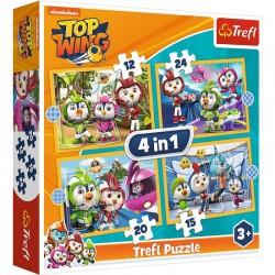 TREFL Puzzle Układanka 4w1 TOP WING PTASIA AKADEMIA 34360