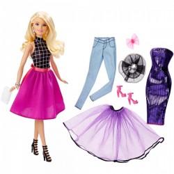 Mattel - DJW57 - DJW58 - Lalka - Barbie - Modowe Przebieranki - Blondynka