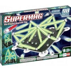 SUPERMAG Klocki Magnetyczne 98 Elementów CLASSIC GLOW ŚWIECĄCE W CIEMNOŚCI 0410