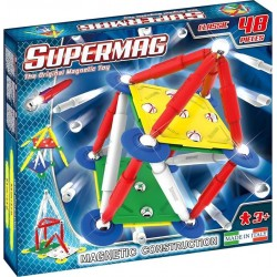 SUPERMAG Magnetyczne Klocki Konstrukcyjne 48 Elementów CLASSIC 0400
