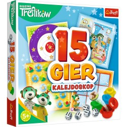 TREFL Kalejdoskop 15 Gier RODZINA TREFLIKÓW 01922