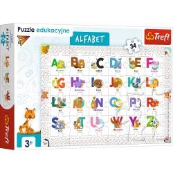 TREFL Puzzle Edukacyjne Układanka 34 Elementy ALFABET 15560