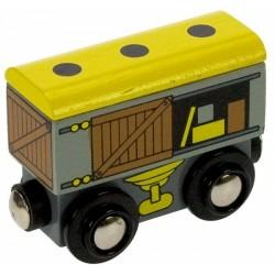 Bigjigs Toys - BJT402 - Wagon Towarowy - do Kolejek Drewnianych