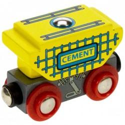 Bigjigs Toys - BJT401 - Wagon z Cementem - do Kolejek Drewnianych