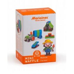 MARIOINEX Klocki Mini Wafle Zestaw Konstrukcyjny ROLNIK 83 el. 90255