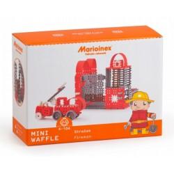 MARIOINEX Klocki Mini Wafle Duży Zestaw Konstrukcyjny STRAŻAK 163 el. 90253