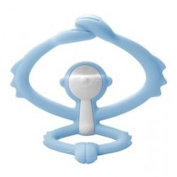 MOMBELLA Gryzak Silikonowy MAŁPKA Jasnoniebieska Baby Blue P8081-2