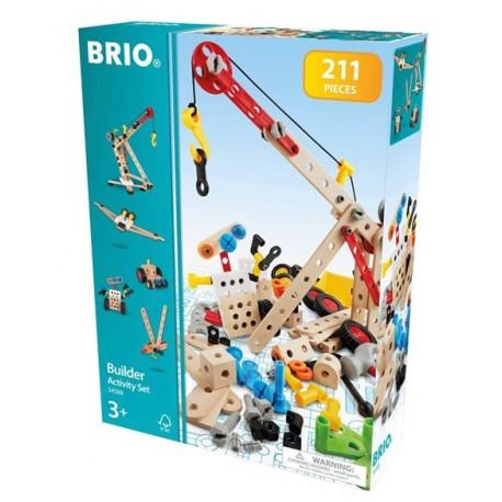 BRIO Zestaw Budowniczego Majsterkowicza 210 Elementów 34588