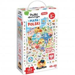 CzuCzu Puzzle Obserwacyjne 117 Elementów MAPA POLSKI 490968