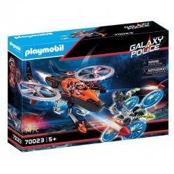 PLAYMOBIL Galaxy Police HELIKOPTER PIRATÓW 70023